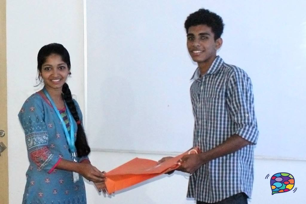 Saranya welcoming Jibin at RapidValue