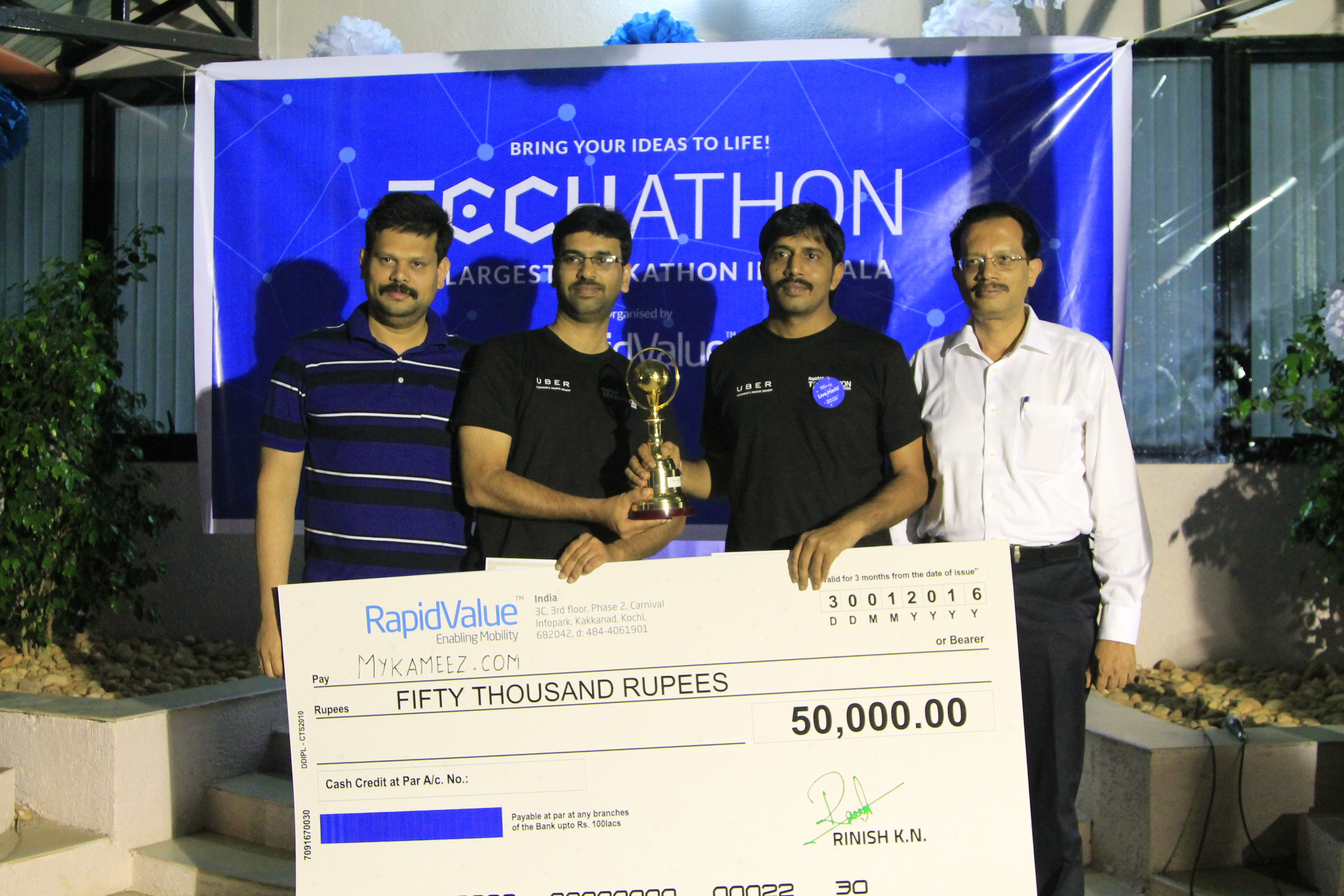 Second place in Techathon